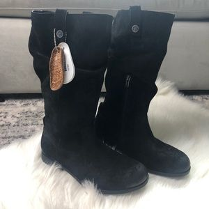 NWT Birkenstock leather suede knee high boots